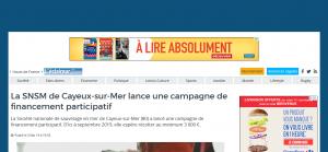 Campagne de La SNSM de Cayeux-sur-Mer